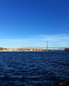 Aussicht aus dem Hafen hinaus