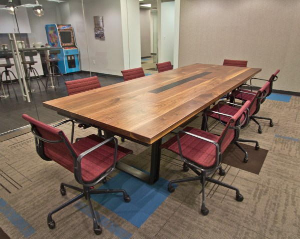 Mission Impossible Black Walnut Conference Room Table