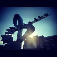 LeDroit Park Duke Ellington Statue in Sunlight December 2012