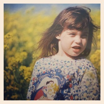 Me at the age of 5: big lips, awesome shirt.