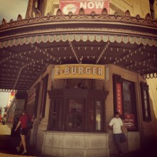 Out front of Z Burger