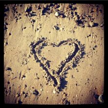 Obligatory heart drawn in sand