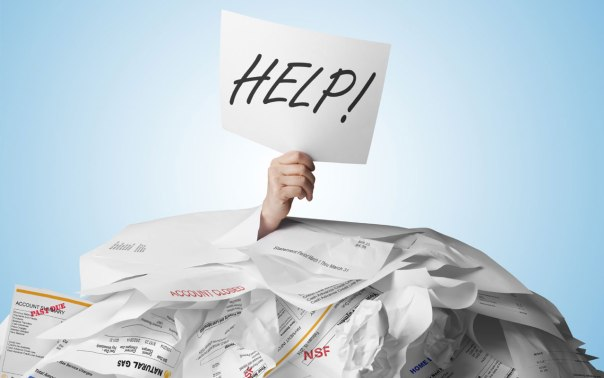 debt with help sign