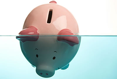 deep in debt