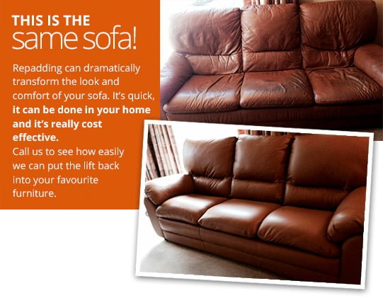 Lanarkshire Leather And Fabric Sofa Re Upholstery ReScot Upholstery