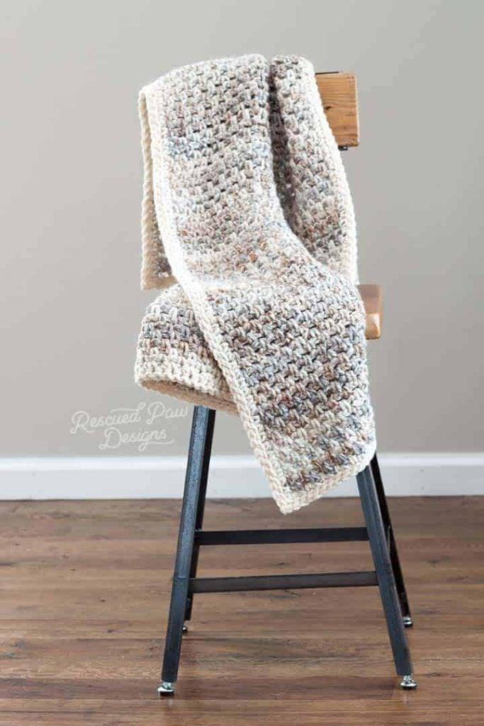 willow chair crochet throw