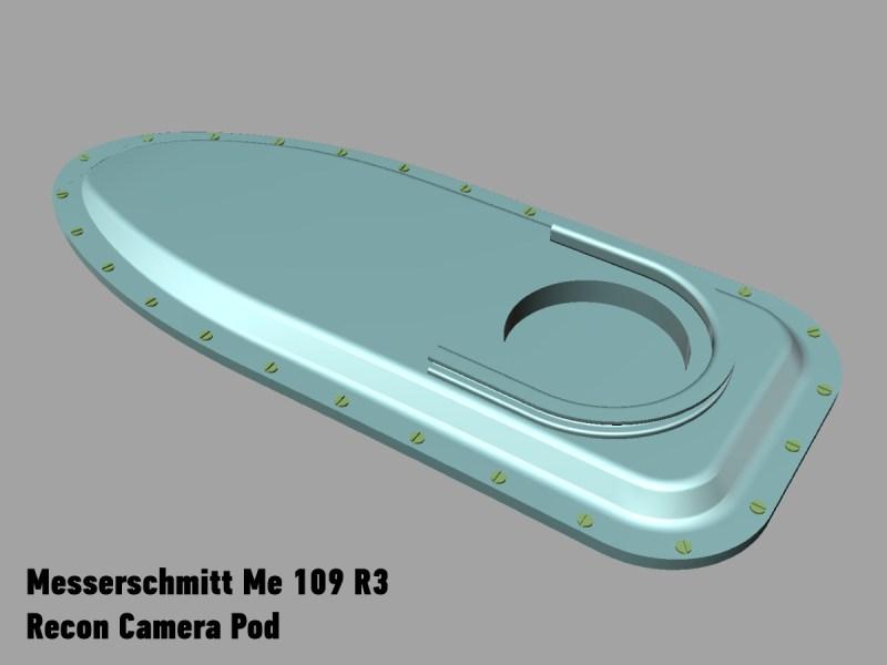 A képhez tartozó alt jellemző üres; Me109R3_camera_pod.jpg a fájlnév