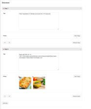 Editing recipe Directions