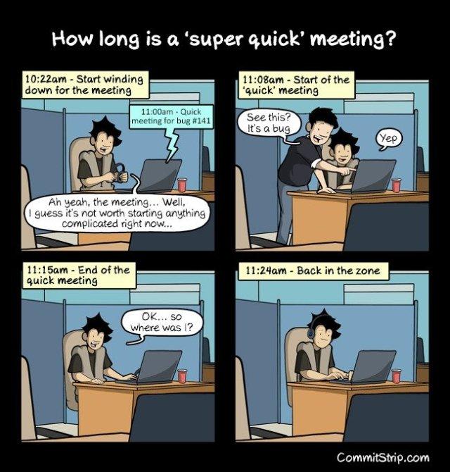 super quick meeting comic