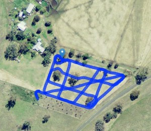 Geolocation data stream from a soil mapping sensor