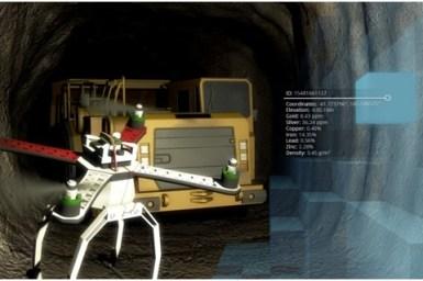 UAV mapping underground mine