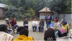 Meeting farmers, Domar upazilla, Rangpur district