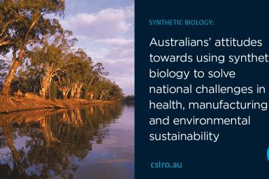 Attitudes to synbio banner showing waterway
