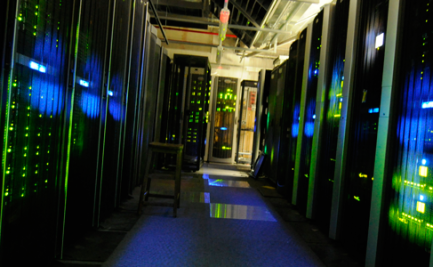 A view of the server room at The National Archives (UK)