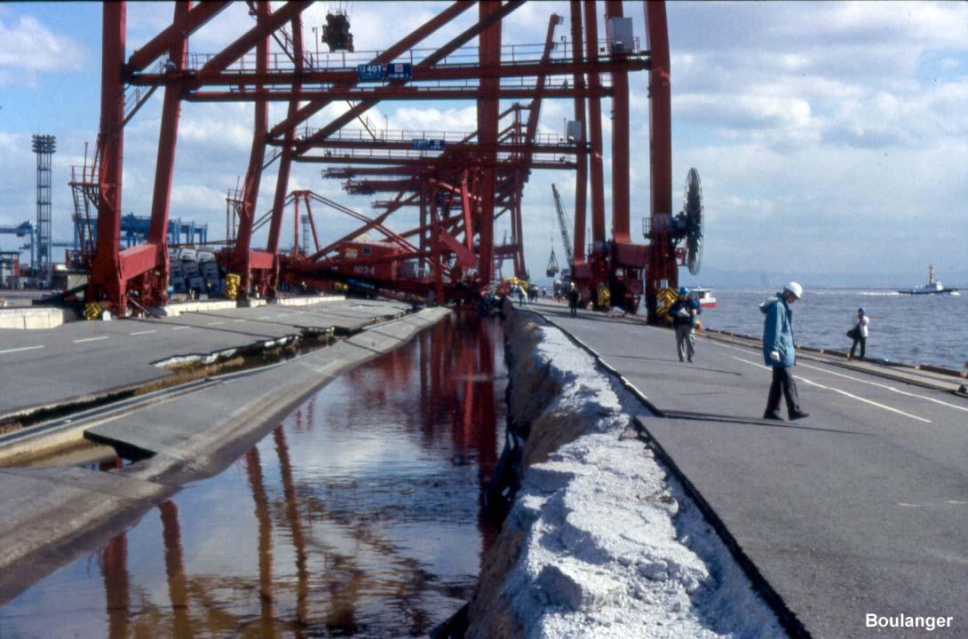 Liquefaction  Ports Kobe  Geotechnical Photo Album
