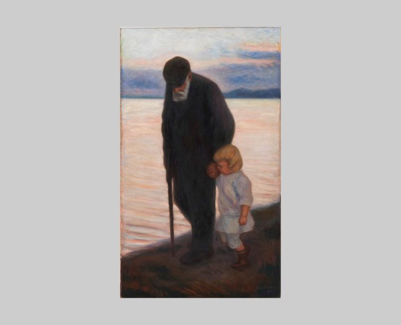 Hugo Simberg, Old Man and Child, 1913, Finnish National Gallery, Ateneum Art Museum. Photo: Finnish National Gallery / Pirje Mykkänen