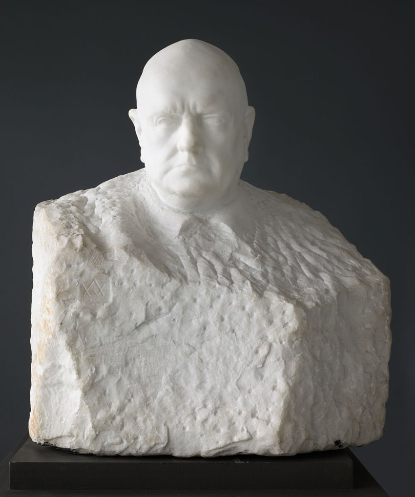 Wäinö Aaltonen, Jean Sibelius, 1935, marble, ht. 70 cm Finnish National Gallery / Ateneum Art Museum Photo: Finnish National Gallery / Hannu Pakarinen