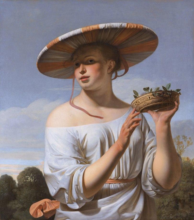 Caesar van Everdingen (1616/17-1678): Young Woman in a Broad-Brimmed Hat, c. 1645-1650. Rijksmuseum, Amsterdam