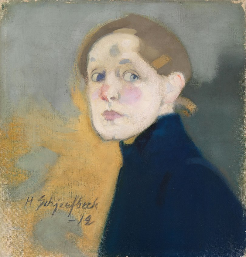 Helene Schjerfbeck, Self-Portrait, 1912, oil on canvas Finnish National Gallery / Ateneum Art Museum Photo: Finnish National Gallery / Yehia Eweis