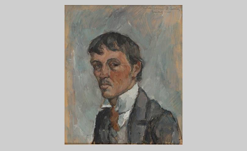 Mikko Carlstedt, Self-Portrait, 1913, oil on cardboard, 49.5cm x 42.5cm. Finnish National Gallery / Ateneum Art Museum. Photo: Finnish National Gallery / Asko Penna