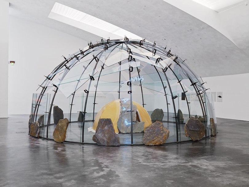 Mario Merz, Untitled (Igloo), 1989, wax, rock, neon, glass, metal, diameter 823cm The Kouri Collection, Finnish National Gallery / Museum of Contemporary Art Kiasma Photo: Finnish National Gallery / Pirje Mykkänen