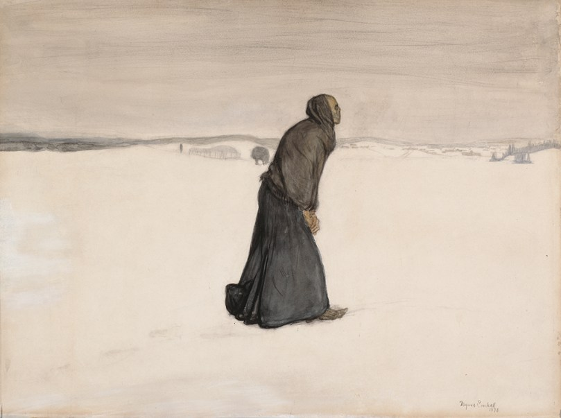 Magnus Enckell, Death's Walk, 1896, watercolour and pencil on paper, 50.5cm x 67.5cm, Ahlström Collection, Finnish National Gallery / Ateneum Art Museum Photo: Finnish National Gallery / Jenni Nurminen