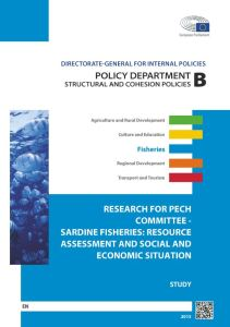 Sardine Fisheries: Resource Assessment and Social and Economic Situation