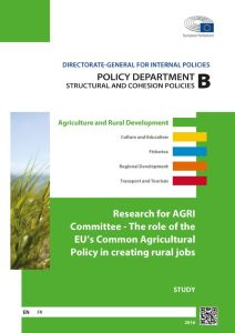 The Role of the EU'S Common Agricultural Policy in Creating Rural Jobs