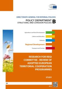 Review of Adopted European Territorial Cooperation Programmes