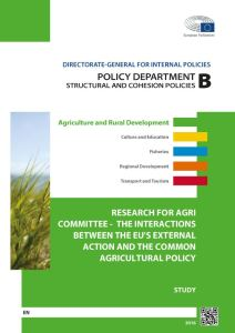 The Interactions between the EU's External Action and the Common Agricultural Policy