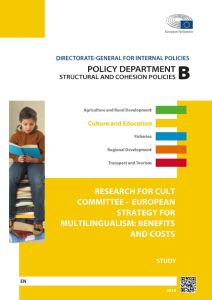 European Strategy for Multilingualism: Benefits and Costs