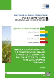 The Consequences of Climate Change for EU Agriculture: Follow-Up to the COP21 UN Paris Climate Change Conference