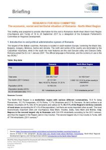 The economic, social and territorial situation of Romania - North-West Region