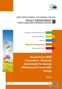 Financial instruments for energy efficiency and renewable energy