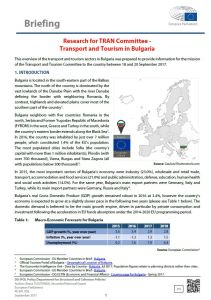 Transport and Tourism in Bulgaria