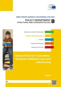 European Solidarity Corps and volunteering
