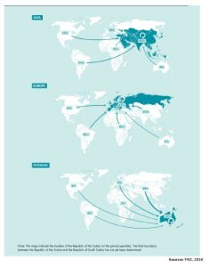 ANNEX 1: TRADE FLOWS BY CONTINENTS PART 2