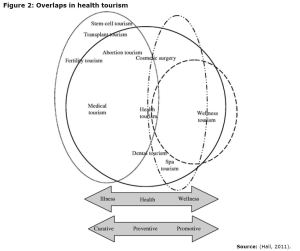 Figure 2: Overlaps in health tourism
