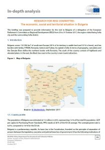 The economic, social and territorial situation in Bulgaria