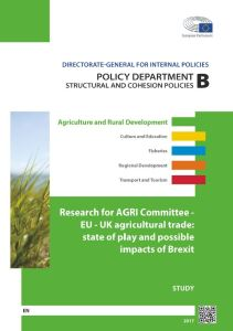 EU - UK agricultural trade: state of play and possible impacts of Brexit