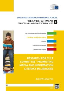 PROMOTING MEDIA AND INFORMATION LITERACY IN LIBRARIES