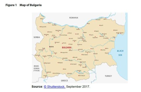 Figure 1 Map of Bulgaria