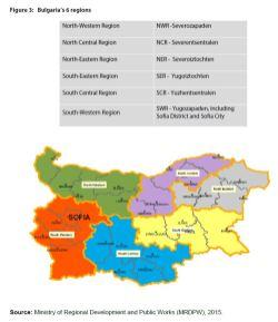 Figure 3: Bulgaria's 6 regions