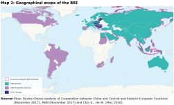 Map 2: Geographical scope of the BRI