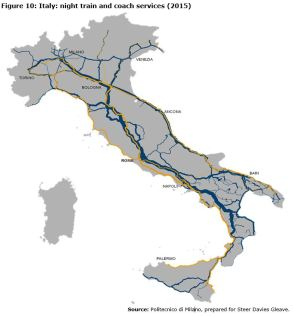 Figure 10: Italy: night train and coach services (2015)