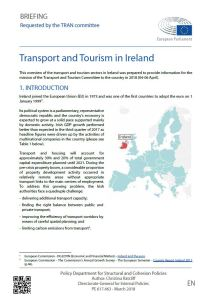 Transport and Tourism in Ireland