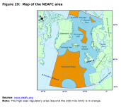 Figure 29 Map of the NEAFC area