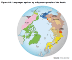 Figure 44 Languages spoken by indigenous people of the Arctic