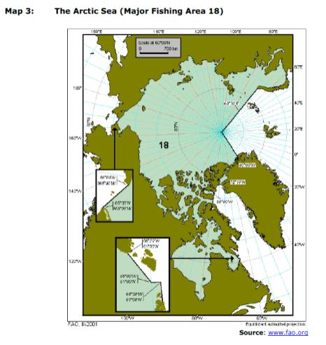 Map 3: The Arctic Sea (Major Fishing Area 18)