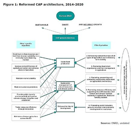 Figure 1: Reformed CAP architecture, 2014-2020